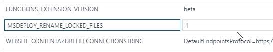 MSDeploy overwrite/rename application settings